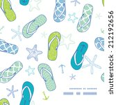 Nautical Flip Flops Blue And...