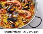 Typical Spanish Seafood Paella...