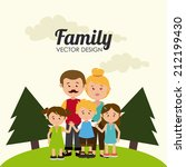 family design over beige... | Shutterstock .eps vector #212199430