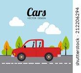 vehicle design over landscape... | Shutterstock .eps vector #212206294