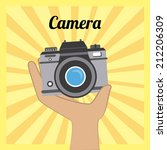 technology design over yellow... | Shutterstock .eps vector #212206309