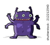 cartoon alien monster | Shutterstock . vector #212212540