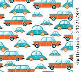 lovely colorful cars seamless... | Shutterstock .eps vector #212217874