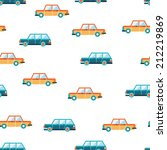 lovely colorful cars seamless... | Shutterstock .eps vector #212219869