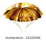Golden Parachute - stock photo