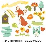 woodland whimsy | Shutterstock .eps vector #212234200