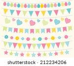 easter bunting | Shutterstock .eps vector #212234206