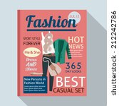 Fashion Magazine With Casual...