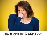 closeup portrait middle aged... | Shutterstock . vector #212245909