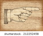 hand with pointing finger on... | Shutterstock .eps vector #212252458