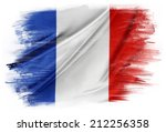 French Flag On Plain Background