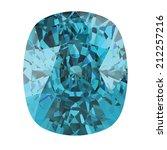 aquamarine gem | Shutterstock .eps vector #212257216