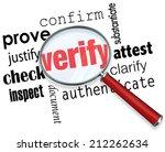 verify word under magnifying... | Shutterstock . vector #212262634