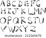 english alphabet a to z | Shutterstock .eps vector #212265670
