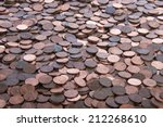 Many Old Dirty Pennies. Bronze...