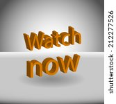 beautiful watch web icon | Shutterstock . vector #212277526