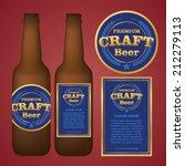 craft beer label | Shutterstock .eps vector #212279113