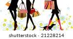 summer  shopping girls ...   Shutterstock . vector #21228214