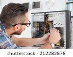 computer engineer working on... | Shutterstock . vector #212282878