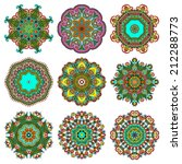 circle lace ornament  round... | Shutterstock . vector #212288773