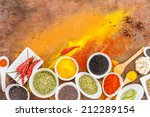 chili  turmeric  oregano and... | Shutterstock . vector #212289154