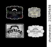set of vintage labels  vector... | Shutterstock .eps vector #212295658
