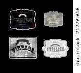 set of vintage labels  vector... | Shutterstock .eps vector #212295658