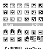 icons  textile. icons... | Shutterstock .eps vector #212296720