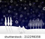 christmas snow background | Shutterstock . vector #212298358