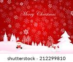 christmas snow background | Shutterstock . vector #212299810