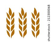 ears of wheat  barley isolated... | Shutterstock . vector #212300068