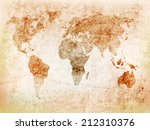Background World Map On Old...