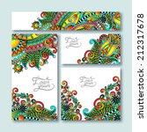 collection of decorative floral ... | Shutterstock . vector #212317678