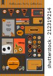 halloween party collection... | Shutterstock .eps vector #212319214