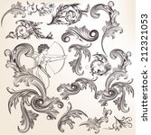 vector set of calligraphic... | Shutterstock .eps vector #212321053