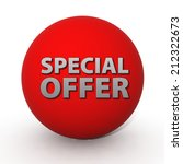 special offer circular icon on... | Shutterstock . vector #212322673