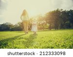 mum and daughter outside in the ...   Shutterstock . vector #212333098