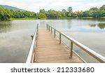 stainless steel bridge or pier... | Shutterstock . vector #212333680