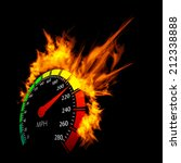 burning vector speedometer fire ... | Shutterstock .eps vector #212338888