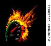 burning vector speedometer fire ...   Shutterstock .eps vector #212338888