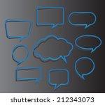 speech bubble cut paper design... | Shutterstock .eps vector #212343073