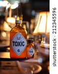 bottle of toxic | Shutterstock . vector #212345596