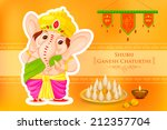 easy to edit vector illustration of Lord Ganesha with message Shubh Ganesh Chaturthi (Happy Ganesh Chaturthi)
