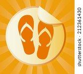 summer design over orange... | Shutterstock .eps vector #212361430