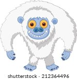 Stock vector smiling cartoon yeti 212364496