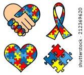 autism awareness symblos ... | Shutterstock .eps vector #212369620
