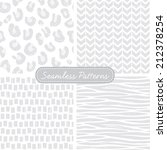 vector set of seamless patterns ... | Shutterstock .eps vector #212378254