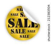 vector gold bent sticker with... | Shutterstock .eps vector #212383504