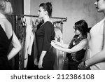 plus size fashion models... | Shutterstock . vector #212386108