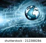 best internet concept of global ... | Shutterstock . vector #212388286